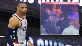 'And the Oscar goes to...': NBA icon Russell Westbrook savaged by fans for 'overreaction' to fan dumping popcorn over him (VIDEO)
