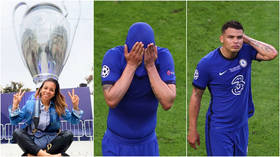 Heartbreak for Thiago Silva's glamorous wife Belle as she watches devastated Chelsea defender hobble out of Champions League final