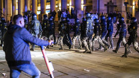 WATCH: 5 police officers injured in clashes with rioters as hundreds of youths flout Covid-19 restrictions in Stuttgart, Germany