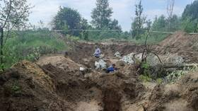Mass grave with remains of at least 640 Soviet prisoners of war discovered at former German Nazi concentration camp in Russia