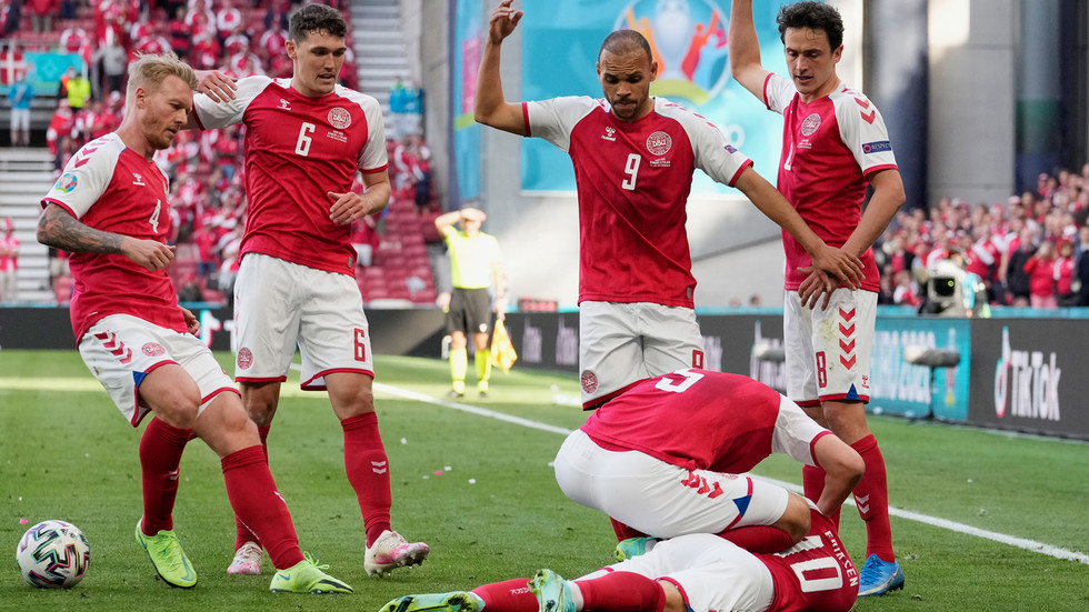 Euro 2020: Danish star Christian Eriksen 'stable' in hospital after collapsing on pitch during game with Finland