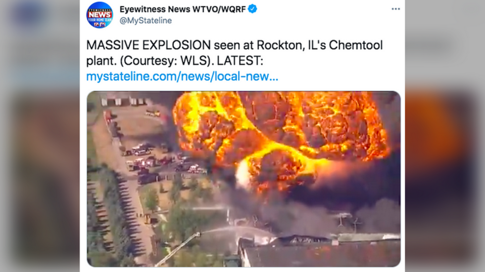 Huge blaze breaks out at Illinois chemical site after enormous explosion, locals evacuated (VIDEO)