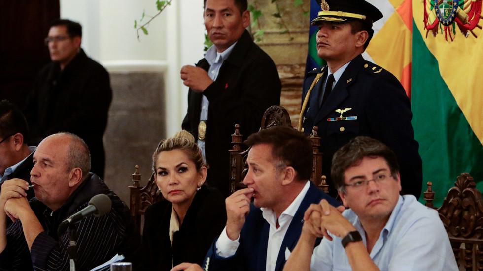 An die Medien durchgesickerte Audioaufnahmen belegen Pläne der bolivianischen Putschregierung, trotz Wahlniederlage im Jahr 2020 mithilfe von US-Söldnern an der Macht zu bleiben.