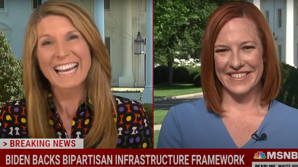 MSNBC host Nicolle Wallace lambasted after telling Jen Psaki 'vast majority' of reporters like her in fawning interview