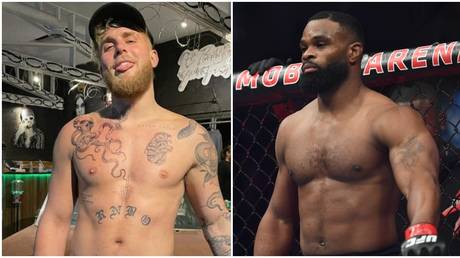 Jake Paul is set to face former UFC champion Tyron Woodley in his next boxing match. © Instagram @jakepaul / USA Today Sports