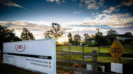 A JBS Foods office in Dinmore, Australia, June 1, 2021. © Patrick Hamilton / AFP