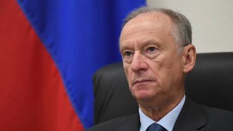 Nikolai Patrushev, Secretary of the Russian Federation's Security Council, at the 15th Meeting of Security Council Secretaries of SCO Member States via video conference.