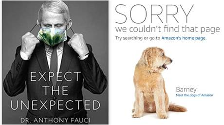 Dr. Anthony Fauci's book (left) has suddenly vanished from major US retailers' sites.