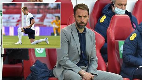 Gareth Southgate spoke after some England fans booed players taking a knee. © Reuters