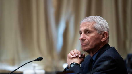 FILE PHOTO: White House Covid-19 advisor Anthony Fauci attends a Senate committee hearing on Capitol Hill in Washington, DC, May 26, 2021.