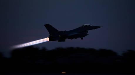 FILE PHOTO. A Republic of Korea F-16 Fighting Falcon takes off at Gunsan Air Base, South Korea.