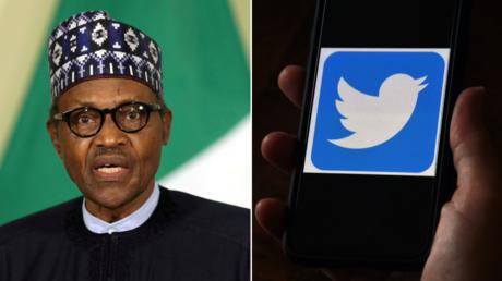(L) Nigerian President Muhammadu Buhari. © Reuters / Siphiwe Sibeko; (R) © AFP / OLIVIER DOULIERY.