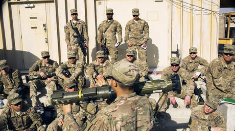 US soldiers at a military base in Laghman province, Afghanistan, 2014. © Lucas Jackson / Reuters