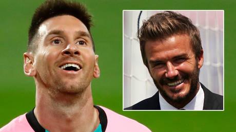 Lionel Messi (left) could join David Beckham's Inter Miami © Juan Medina / Reuters   © Jasen Vinlove / USA Today Sports via Reuters