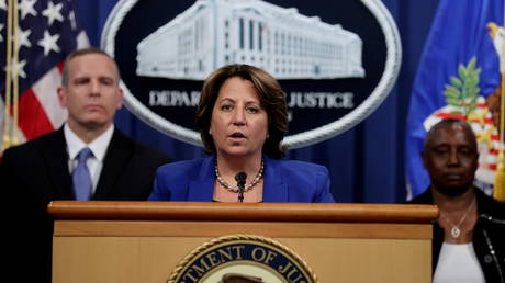 Deputy US Attorney General Lisa Monaco announces the recovery of bitcoin from the Colonial Pipeline ransomware attack, June 7, 2021.