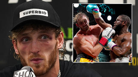 Logan Paul (left) held out against Floyd Mayweather © Jasen Vinlove / USA Today Sports va Reuters