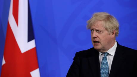 Britain's Prime Minister Boris Johnson speaks during a news conference about the ongoing coronavirus disease (COVID-19) outbreak, in London, Britain May 14, 2021. © Matt Dunham/Pool via REUTERS