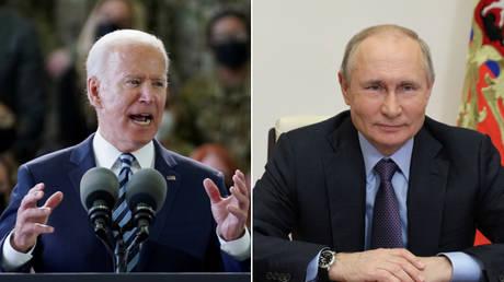 (L) Joe Biden © Reuters / Kevin Lamarque; (R) Vladimir Putin © Sputnik / Sergei Ilyin