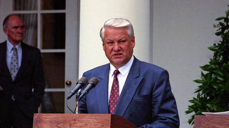 Boris Yeltsin had entourage of 'hundreds' of CIA agents who instructed him how to run Russia, claims former parliamentary speaker