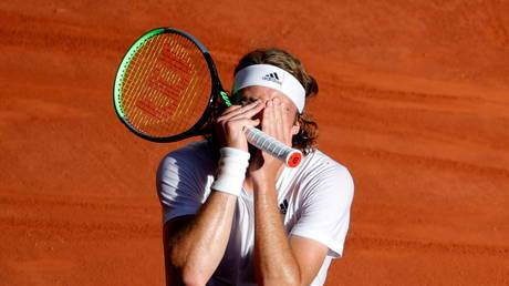 Emotional Stefanos Tsitsipas breaks down after reaching debut Grand Slam final at Roland-Garros