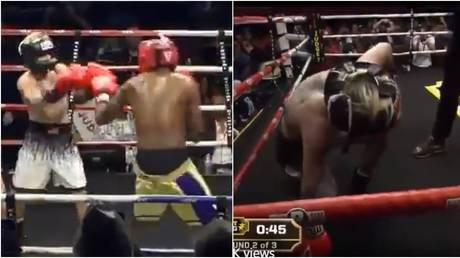 'How is this legal?' Fans bemused by latest boxing charade as ex-NBA player Odom obliterates pop star Aaron Carter (VIDEO)