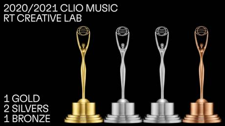 #ClioMusic 2020/2021: RT Creative Lab wins GOLD, 2 SILVERS & BRONZE at global competition celebrating use of music in advertising