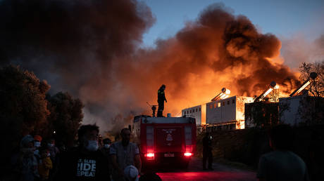 4 Afghan nationals jailed for 10 years over arson that destroyed Greece's Moria migrant camp amid Covid-19 quarantine protests