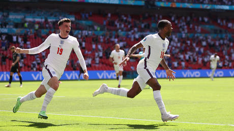 Sterling fired England to victory against Croatia. © Reuters