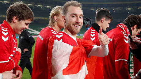 Denmark star Christian Eriksen appears to be well on the road to recovery © David Klein / Reuters