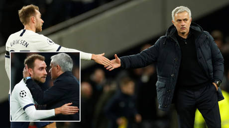 Jose Mourinho (right) was shaken by Christian Eriksen's ordeal at Euro 2020 © Eddie Keogh / Reuters |  © Action Images / John Sibley via Reuters