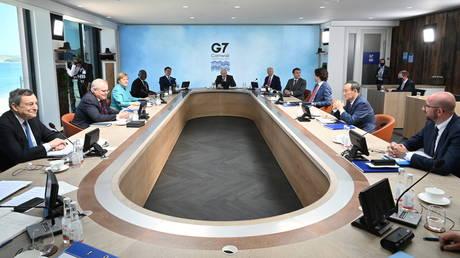 G7 summit in Carbis Bay, Cornwall, Britain, June 12, 2021. © Reuters / Leon Neal.