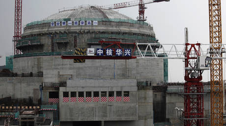 Part of the Taishan Nuclear Power Plant seen under construction in Taishan, Guangdong province, (FILE PHOTO) © REUTERS/Bobby Yip
