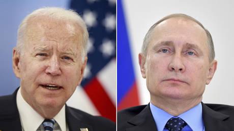 (L) © Stephanie Lecocq / Pool via REUTERS; (R) © Sputnik / Alexei Druzhinin / Kremlin via REUTERS