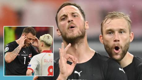 Marko Arnautovic (left) scored for Austria against North Macedonia © Justin Setterfield / Reuters | © Daniel Mihailescu / Reuters |