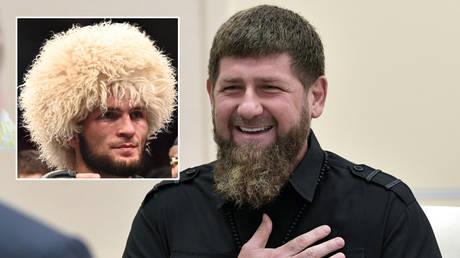 Ramzan Kadyrov (right) and Khabib Nurmagomedov © Sputnik / Alexei Nikolsky / Kremlin via Reuters | © Per Haljestam / USA Today Sports via Reuters