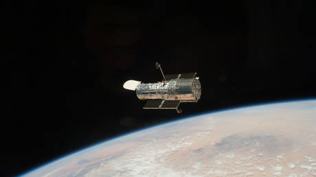 NASA's Hubble Space Telescope after release.