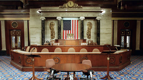 The Speaker's well on the House floor. © Scott J. Ferrell/Congressional Quarterly/Getty Images