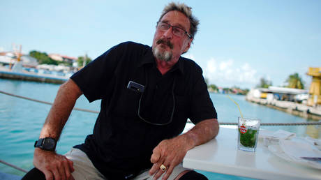 FILE PHOTO: John McAfee, co-founder of McAfee Crypto Team and CEO of Luxcore and founder of McAfee Antivirus, during an interview in Havana, Cuba, on July 4, 2019