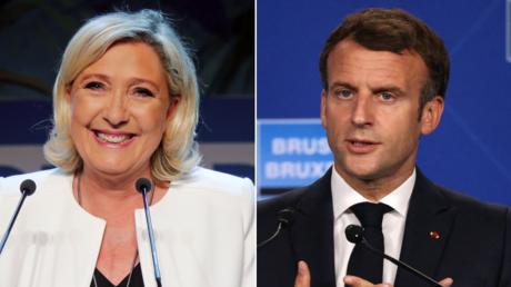 (L) Marine Le Pen. © Reuters / CHARLES PLATIAU; (R) Emmanuel Macron. © AFP / THOMAS COEX.