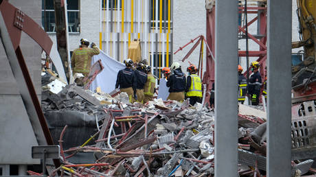 Five dead after primary school under construction partially collapses in Antwerp, Belgium (VIDEO) - rt