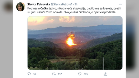 At least 3 injured & evacuation ordered after blasts rock Serbia ammunition factory for 2nd time in a MONTH (VIDEOS) - rt