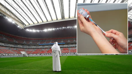 Fans will need to be vaccinated at the Qatar World Cup 2022 © Kai Pfaffenbach / Reuters | © Jacob King / Reuters