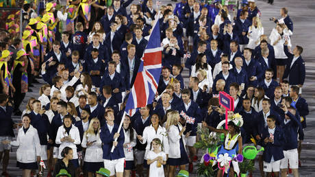 The Great Britain team at the opening ceremony of the 2016 Olympics in Brazil. © Reuters