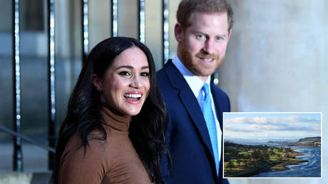 Prince Harry and Meghan Markle © Getty Images / WPA Pool / Pool; (inset) © Getty Images / dyker_the_horse_1976