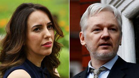 (L) Stella Moris © REUTERS/Dylan Martinez; (R) Julian Assange © REUTERS/Peter Nicholls