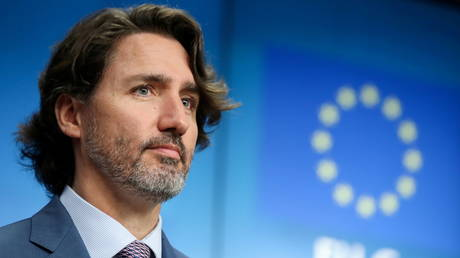 FILE PHOTO: Canadian Prime Minister Justin Trudeau holds a news conference after an EU-Canada summit, in Brussels, Belgium June 15, 2021. © REUTERS/Yves Herman
