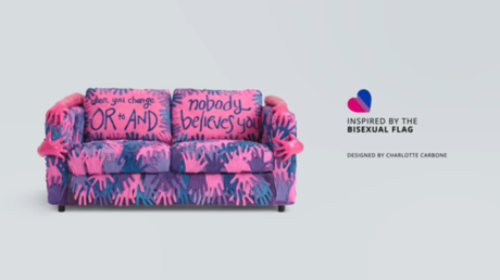 'Nobody believes you': IKEA couch honoring bisexual people sends confusing messages