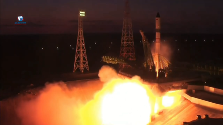 WATCH: Russian rocket carrying food, water & fuel for astronauts on International Space Station launches from Baikonur Cosmodrome
