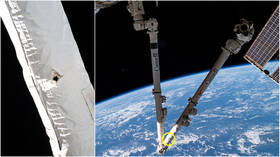'Lucky strike'? Space debris punches hole in robotic arm on International Space Station