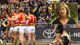 'Taking nanny state to new level': Aussie health official panned for warning football crowd to 'duck ball' because of Covid fears